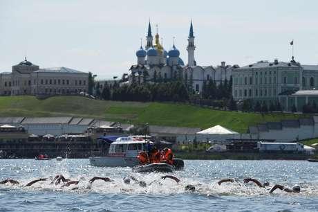 Maratona aquática foi disputada no rio Kazanka, na Rússia