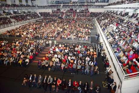 Plateia da abertura do Festival de Joinville (SC)