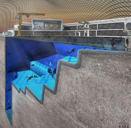 Impresionante as ser la piscina m s profunda del mundo for Piscina 50 metros barcelona