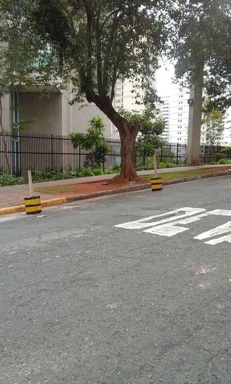 A prefeitura afirmou que removeu os materiais da via