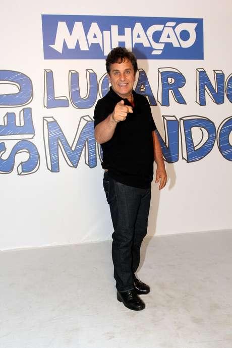 O ator Marcos Frota, que já atuou no folhetim, durante festa no Projac, no Rio, nesta terça-feira (4)