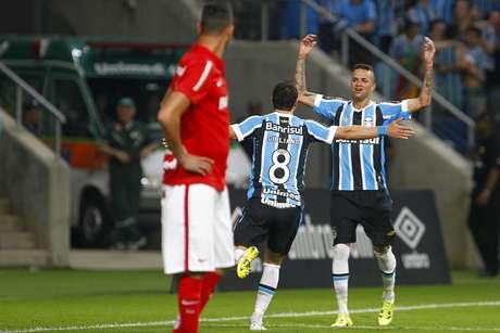 Destaque da partida, Luan marcou dois gols