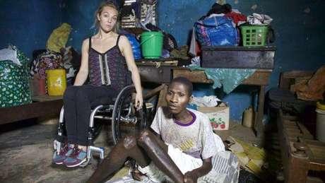 Sophie visitou Gana para um documentário sobre a vida em Gana para pacientes com deficiência: alguns deles vivem no mesmo quarto há 15 anos