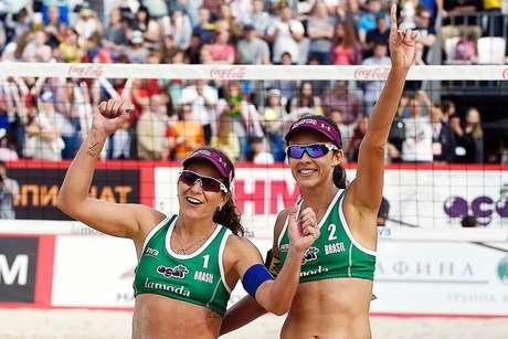 Larissa e Talita vencem holandesas e conquistam o ouro no Grand Slam de Moscou