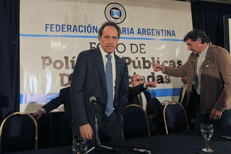 Scioli, enojado con Macri por sus dichos sobre la elección en Tucumán.