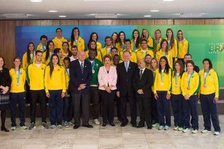 Dilma recebeu em Brasília a delegação brasileira no Pan-Americano