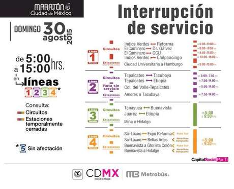 La red de Metrobus dará servicio desde las 5 am.