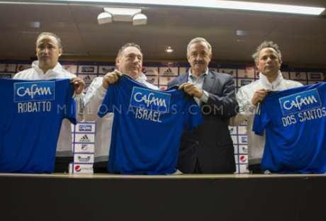 Millonarios presentó el nuevo cuerpo técnico, encabezado por Rubén Israel.