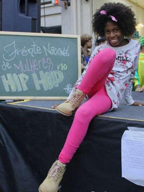 A menina sente falta de maior presença feminina no hip hop