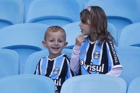 Torcedores mirins compareceram na Arena Grêmio