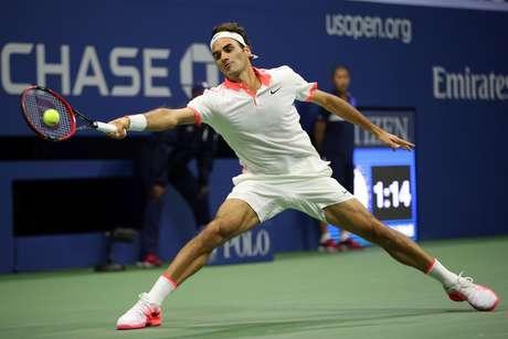 Roger Federer se esforçou, mas não conseguiu alcançar o sonhado hexacampeonato em Nova York