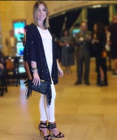 Fabiana Justus também esteve presente no desfile da marca