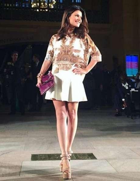 Sophia Alckmin, filha do governador Geraldo Alckmin, também conferiu evento de moda em Nova York
