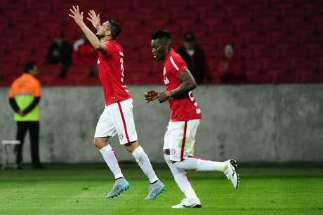 Réver marcou o gol de empate do Inter após cobrança de escanteio