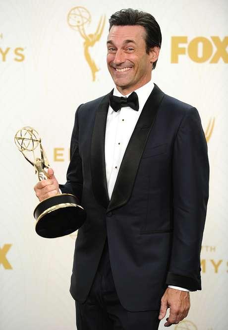 Após oito indicações, Jon Hamm venceu na categoria melhor ator de série dramática
