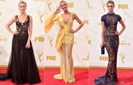 Julianne Hough, Heidi Klum e Christine Marzano exibiram suas curvas em forma com vestidos repletos de transparências
