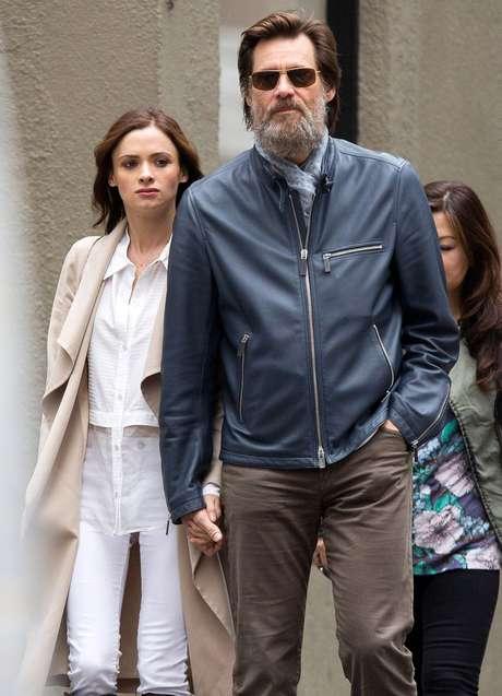 Cathriona e Jim Carrey