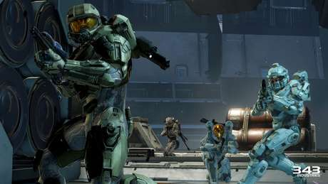 O Blue Team liderado por Master Chief