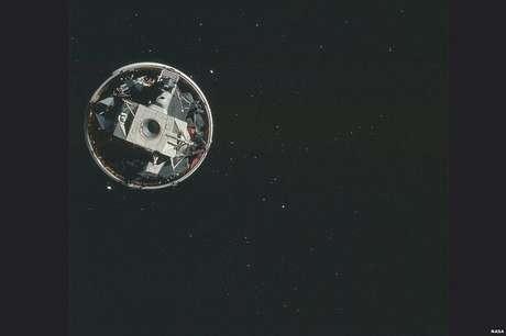 Esta é uma imagem da órbita lunar feita durante a missão Apollo 15 (Foto: Nasa/Project Apollo Archive)