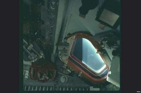 Uma imagem dentro da missão Apollo 9 (Foto: Nasa/Project Apollo Archive)