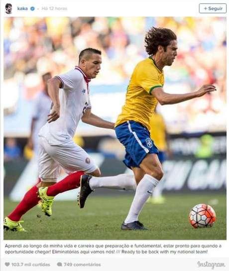 Kaká comemora convocação e se diz 'Preparado'