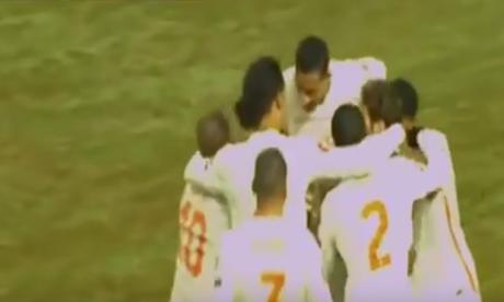 Jogadores da Holanda comemoram gol nas Eliminatórias
