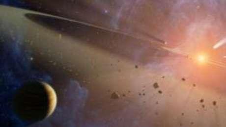 A 'estrela' tem seu brilho diminuído em intervalos irregulares