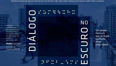 """A proposta da mostra sensorial """"Diálogo no Escuro"""" é justamente nos transportar para o escuro, guiados por um deficiente visual que nos conduz em situações corriqueiras do cotidiano, inclusive de consumo"""