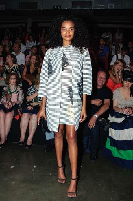 Ela prestigiou os 20 anos da semana de moda paulista