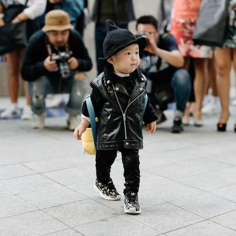 Crianças fashionistas no Seoul Fashion Week