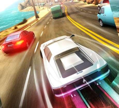 O jogo traz mais de 30 opções de carros para escolher