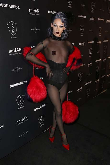 Drag Queen Violet Chachki no after party do AmfAR's Inspiration Gala