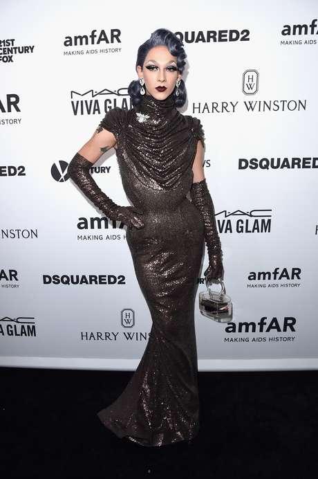 Drag Queen Violet Chachki no AmfAR's Inspiration Gala