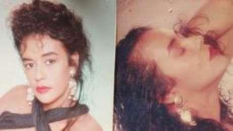 Retratos que Oliveira fez em um estúdio de fotografia, a pedido de Naldo