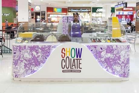 Criada em 2003, rede de quiosques comercializa fondue de chocolate em shoppings