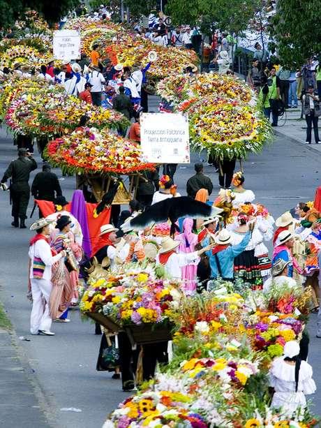 """Medellín es conocida como """"la ciudad de la eterna primavera"""", y cada año se celebra la Feria de las Flores."""