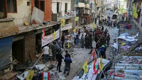 Ataque em área movimentada de Beirute, no Líbano