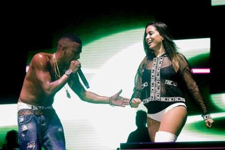 Anitta se apresentou ao lado de Nego do Borel no último domingo