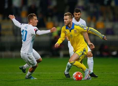 No jogo de ida, a Ucrânia havia vencido por 2 a 0
