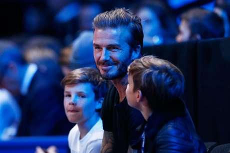 Beckham levou os filhos ao duelo Djokovic x Nadal em Londres