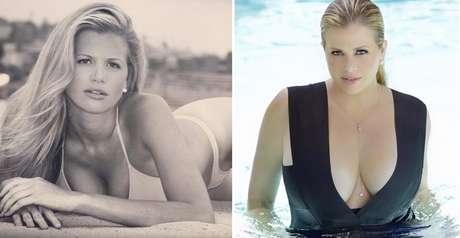 Danielle modelando antes e depois de vencer a anorexia