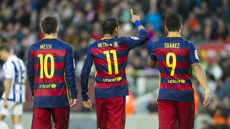 Neymar foi a 14 gols no Campeonato Espanhol e segue como artilheiro isolado