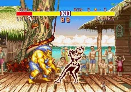 O cenário do personagem brasileiro da série, Blanka (que já tem um nome controverso), é ilustrado por uma espécie de vila na Amazônia, cujo símbolo máximo é uma cobra enrolada em uma árvore