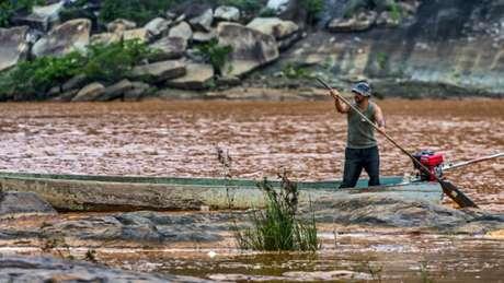 O pescador disse ter ido recolher peixes mortos porque achava que ninguém acreditaria nele se contasse que a vida no rio estava acabando