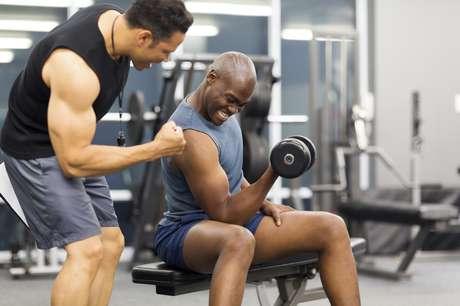 A plataforma facilita o contato com personal trainers