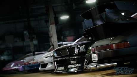 O game de corrida oferece diversas opções de customização para os veículos