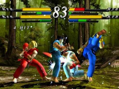 Feito pela Capcom em parceria com o estúdio Arika, game foi o primeiro da franquia a ter visuais 3D. A imagem é de Street Fighter EX3