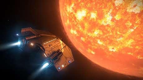 Em jogos como Elite: Dangerous, você pode conhecer outros planetas e galáxias