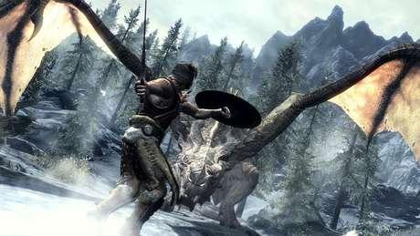Como o escolhido descendente dos dragões, seu papel em Skyrim é salvar o mundo do deus da destruição