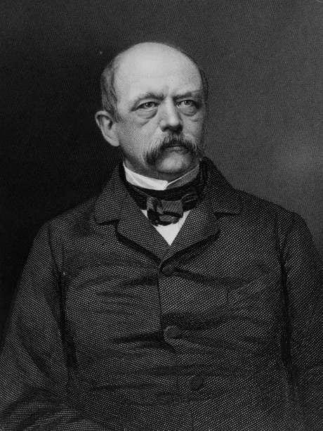 Otto von Bismarck foi nomeado chanceler em 1862